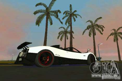 Pagani Zonda Cinque Roadster 2010 pour une vue GTA Vice City de la gauche