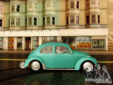 Volkswagen Beetle 1300 pour GTA San Andreas sur la vue arrière gauche