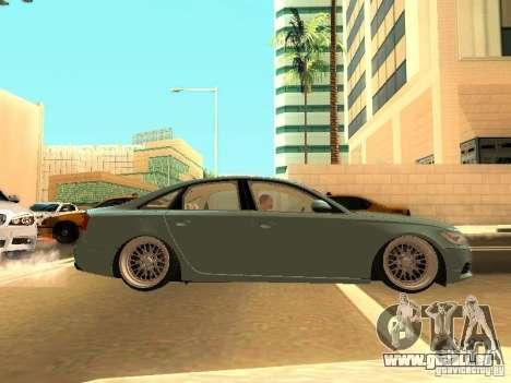 Audi A6 Stanced für GTA San Andreas Rückansicht