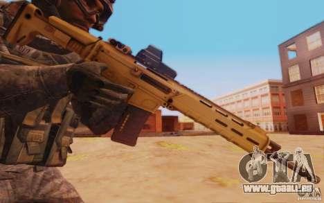 ACR avec un viseur holographique pour GTA San Andreas troisième écran