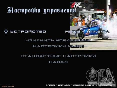 Formule menu de style Drift pour GTA San Andreas troisième écran