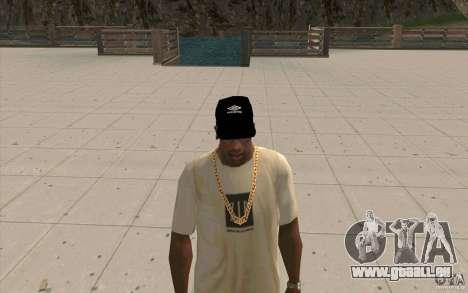 Umbro Cap schwarz für GTA San Andreas zweiten Screenshot