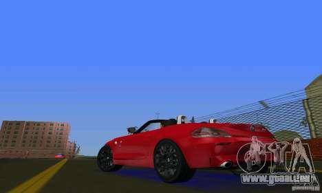 BMW Z4 V10 2011 pour GTA Vice City sur la vue arrière gauche