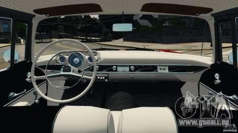 Chevrolet Bel Air Hardtop 1957 Light Tun für GTA 4 Rückansicht