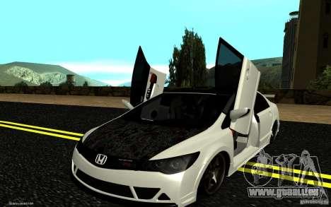 Honda Civic Type R pour GTA San Andreas vue de dessus