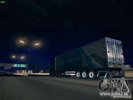 Remorque pour Scania R620 Dubaï Trans pour GTA San Andreas vue de dessus