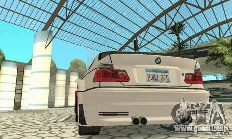 BMW M3 Tunable für GTA San Andreas Innen