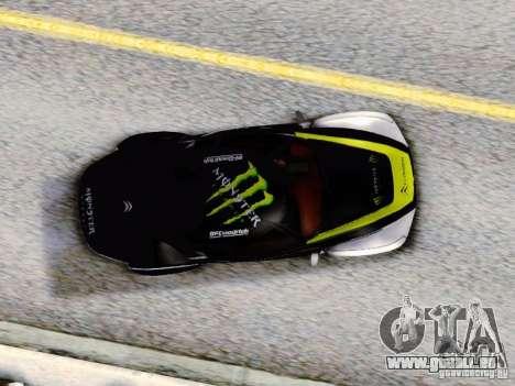 Citroen GT Gymkhana für GTA San Andreas Rückansicht