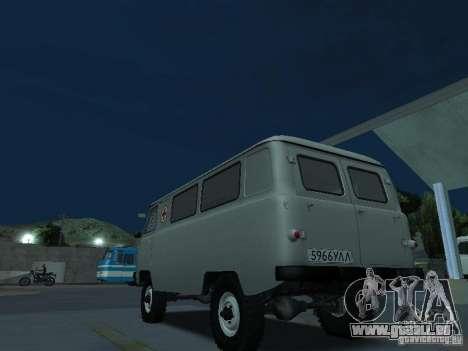 UAZ 451A pour GTA San Andreas sur la vue arrière gauche