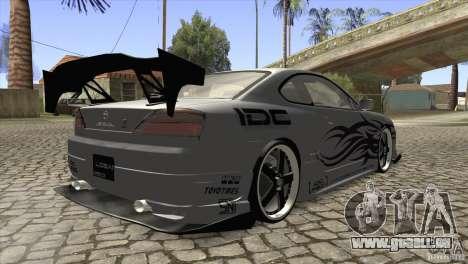 Nissan Silvia S15 Logan pour GTA San Andreas vue de droite