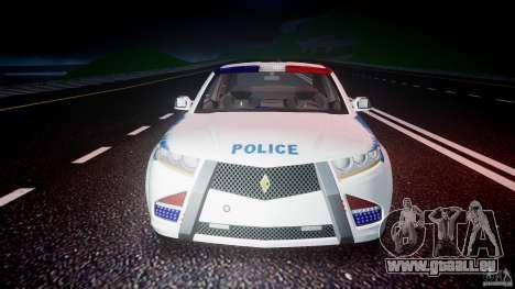 Carbon Motors E7 Concept Interceptor NYPD [ELS] pour GTA 4 est une vue de dessous