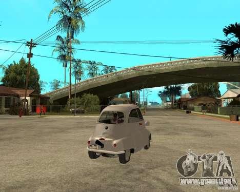 BMW Isetta für GTA San Andreas zurück linke Ansicht