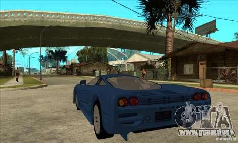 Saleen S7 v1.0 pour GTA San Andreas sur la vue arrière gauche