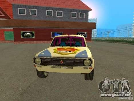 Volga GAZ 24-10 Rallye pour GTA San Andreas vue de droite