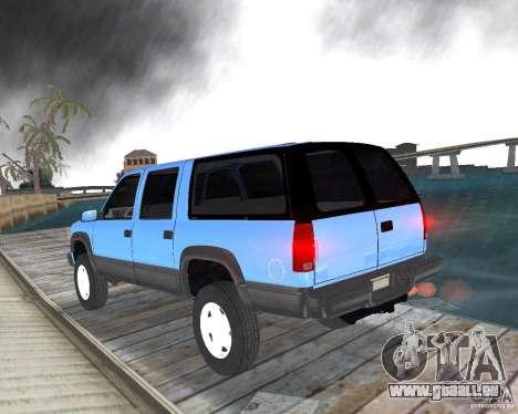 Chevrolet Suburban 1996 pour une vue GTA Vice City de la gauche