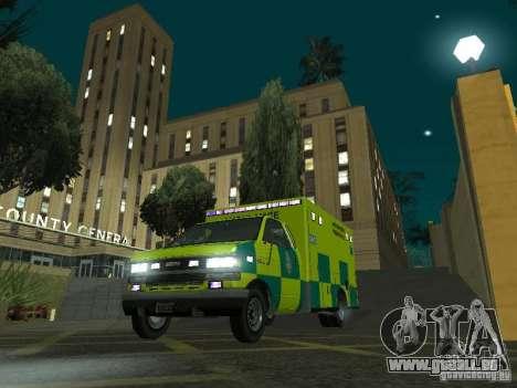 London Ambulance pour GTA San Andreas vue arrière