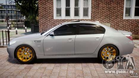 BMW M5 E60 2009 für GTA 4 linke Ansicht