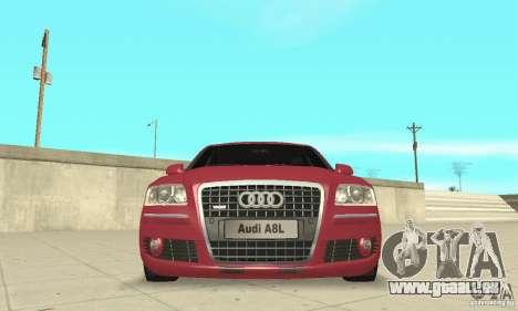 Audi A8L 4.2 FSI pour GTA San Andreas vue de dessous
