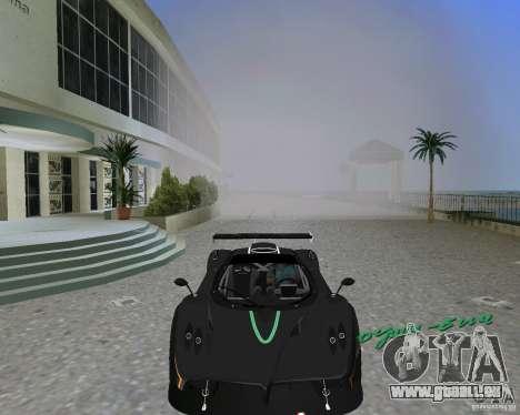 Pagani Zonda R pour GTA Vice City sur la vue arrière gauche