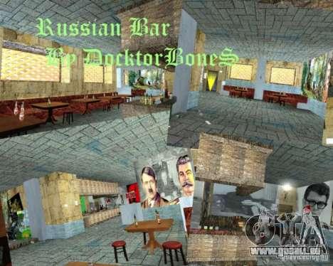 Bar anglais en Gantone dans le style de l'URSS pour GTA San Andreas