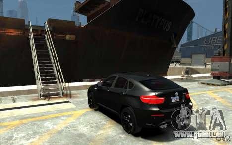 BMW X6 M pour GTA 4 Vue arrière de la gauche