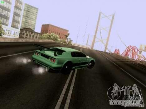 Lotus Esprit V8 pour GTA San Andreas vue intérieure