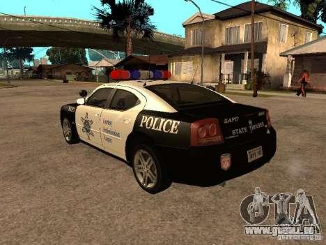 Dodge Charger RT Police pour GTA San Andreas laissé vue