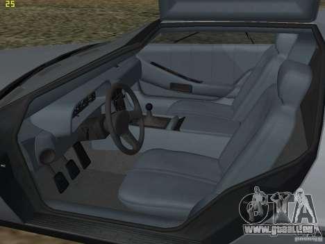 DeLorean DMC-12 pour GTA San Andreas vue intérieure