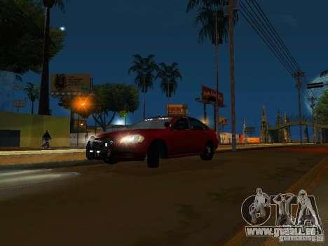 Chevrolet Impala Unmarked pour GTA San Andreas laissé vue