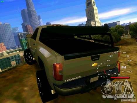 Chevrolet Silverado Final für GTA San Andreas zurück linke Ansicht