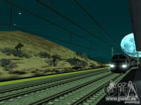 Haute vitesse de la ligne de chemin de fer pour GTA San Andreas sixième écran