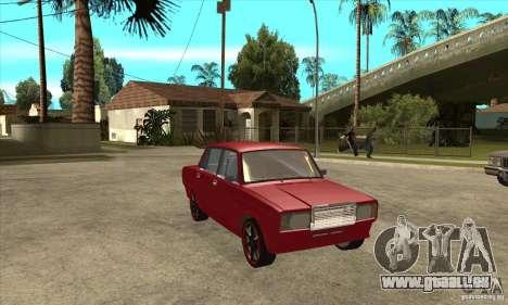 VAZ 2107 réglage optique pour GTA San Andreas vue arrière