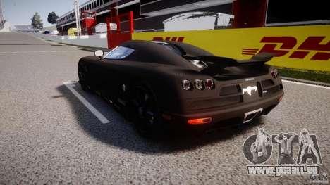 Koenigsegg CCXR Edition für GTA 4 hinten links Ansicht