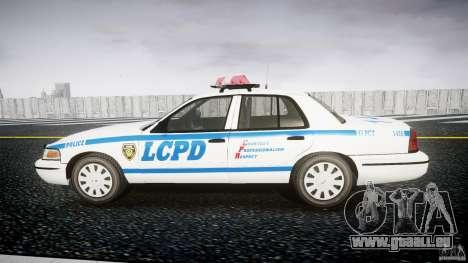 Ford Crown Victoria Police Department 2008 LCPD pour GTA 4 est une gauche
