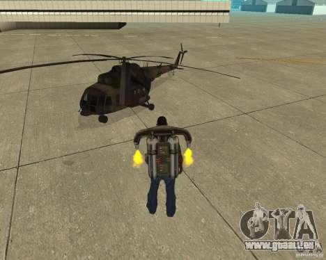 Transport aérien Pak pour GTA San Andreas vue arrière