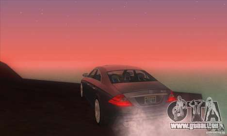 Mercedes-Benz CLS AMG pour GTA San Andreas sur la vue arrière gauche