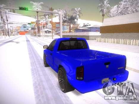 Dodge Ram SRT-10 pour GTA San Andreas laissé vue