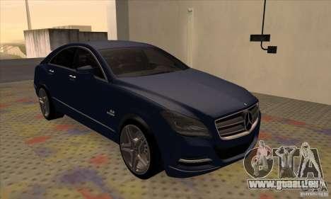 Mercedes-Benz CLS63 AMG 2012 pour GTA San Andreas laissé vue