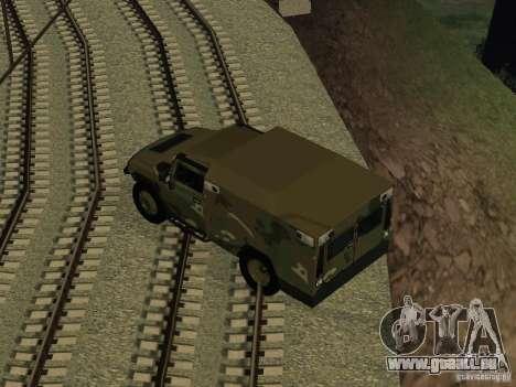 Hummer H2 Army pour GTA San Andreas vue de droite