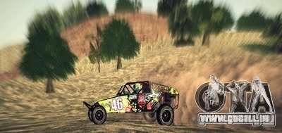 Buggy Monster-Energie für GTA San Andreas Rückansicht