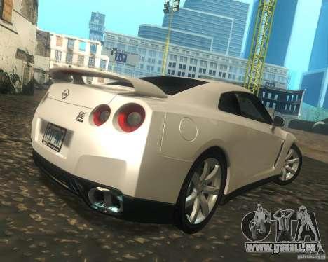 Nissan GTR R35 Spec-V 2010 Stock Wheels für GTA San Andreas rechten Ansicht