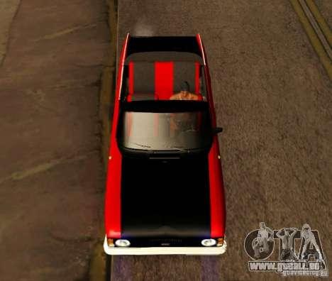 Moskvich 412 Cabrio für GTA San Andreas zurück linke Ansicht