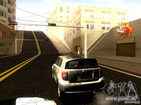 Scion xD pour GTA San Andreas vue intérieure