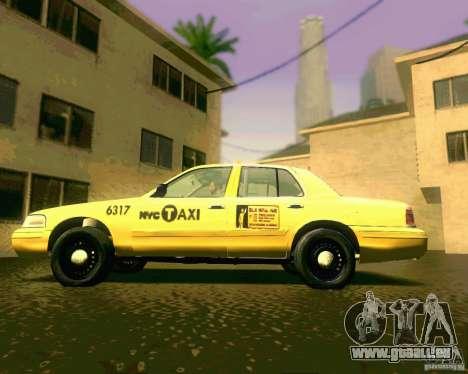 Ford Crown Victoria 2003 NYC TAXI für GTA San Andreas zurück linke Ansicht
