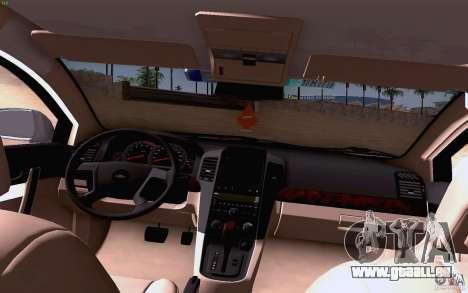 Chevrolet Captiva Police pour GTA San Andreas vue intérieure