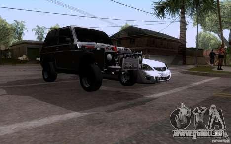 VAZ 21213 Niva Drag pour GTA San Andreas sur la vue arrière gauche