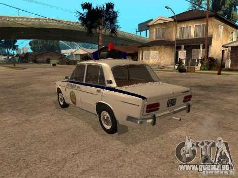 Police Vaz 2103 pour GTA San Andreas laissé vue