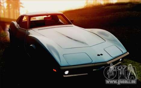Chevrolet Corvette C3 Stingray T-Top 1969 pour GTA San Andreas