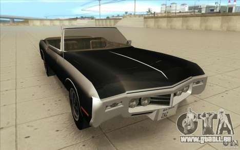 Buick Riviera GS 1969 für GTA San Andreas Rückansicht