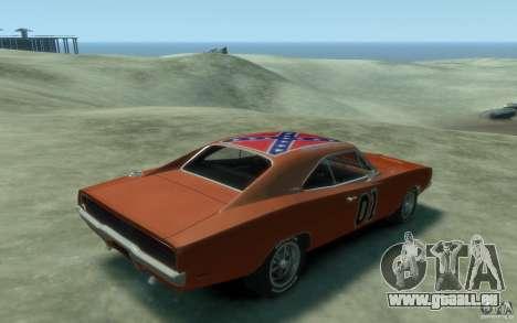 Dodge Charger General Lee v1.1 für GTA 4 rechte Ansicht